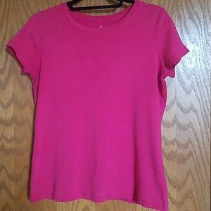 Raspberry pink crew neck short sleeve tshirt